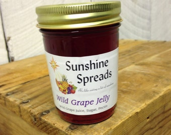 Wild Grape Jelly, 8 Ounce Jar, Amish Made