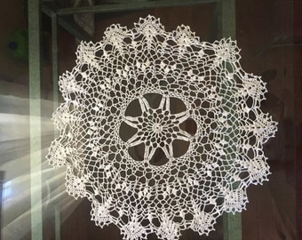 Round Crochet Table Cloth