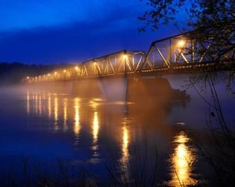 Fog Bridge, nature photography, landscapes bridge print