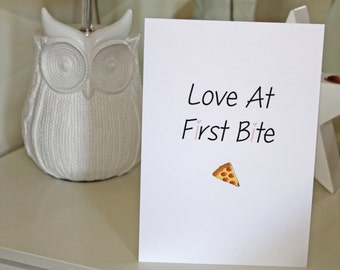 Quote Print: Love at first bite