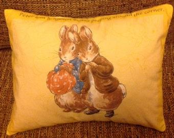 Peter Rabbit and Benjamin Bunny Pillow