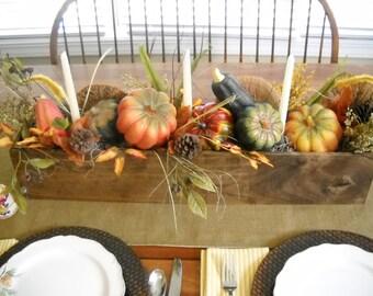 Harvest Box, Harvest Centerpiece Box, Holiday Centerpiece Container