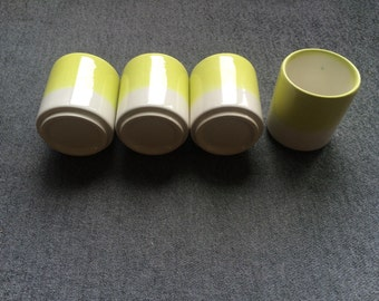 Yellow shot glasses, set of 4