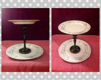 Cake Stand or Dessert Tray Two Teirs