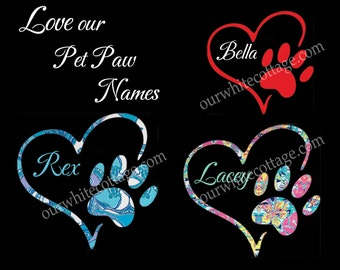 paw heart sticker, monogram paw decal, dog paw decal, paw decal,  lilly inspired, iPhone decal, yeti decal, tumbler decal, car window decal