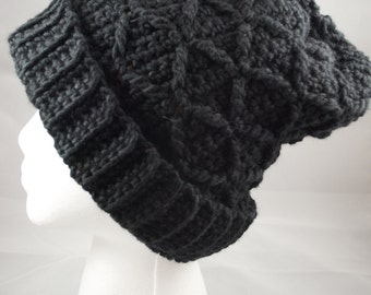 Black Diamonds Alpaca Hat