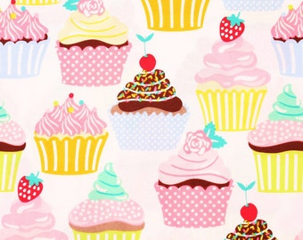 Muffin Cupcake patterned Fabric Maude Asbury by blend' lolly by the Half Yard