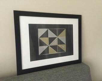 Geometric Painting 35 cm x 45 cm