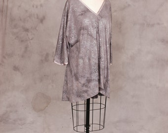 Silver Tunic with sparkles  Size Med/Large