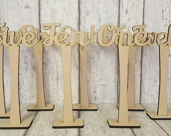 Table Number Settings, Wedding Table Name Settings, Wedding Table Number Settings, Personalised Wedding Table Place Settings