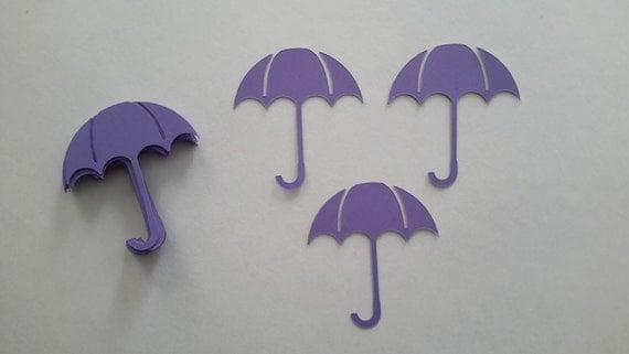 Baby Shower Themes With Umbrellas ~ Small umbrella die cuts card die cuts purple umbrellas baby