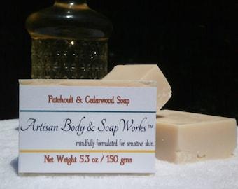 Patchouli & Cedarwood Soap, 5.3 ounces