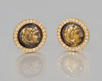 Special design 14 K gold rings diamonds 1.90 CT