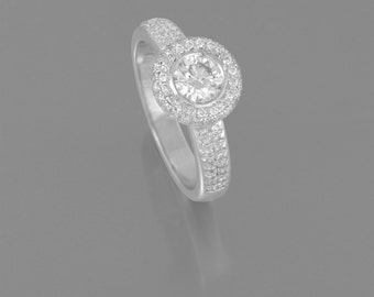 14 k White Gold Diamond ring