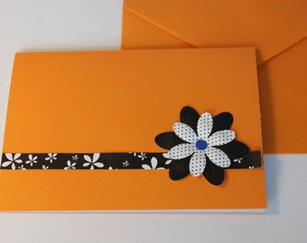 Bright Flower Card Set - 5 cheerful blank cards for all occasions - includes envelopes