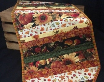 Fall Quilted Table Runner, Customizable, Thanksgiving Decor, Table Decor, Fall decor