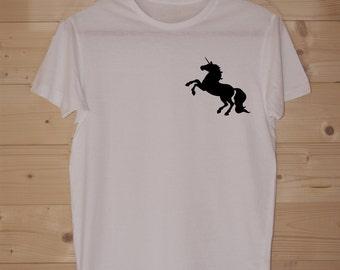 Unicorn Silhouette Tee WHITE