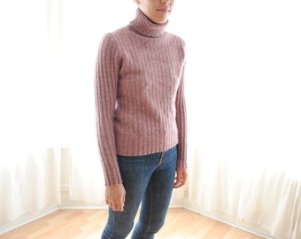 Blush Wool Turtleneck - Women's Small