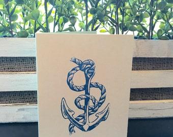 Anchor Card Set of 5 (Navy)