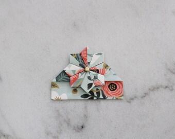 "Handmade corner bookmark ""Wonderful flowers"""