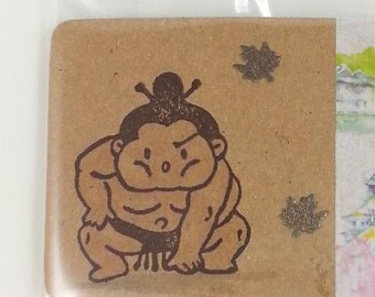 carved sumo wrestler stamp for scrapbooking, card making and decorating, Sumo, Japan, rikishi