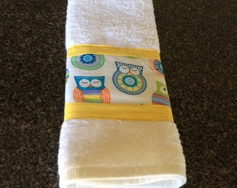 Sunny Owls Cotton Hand Towel