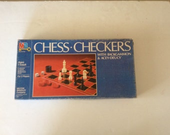 1982 chess/ checkers/ backgammon with acey-deucy