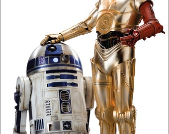 R2D2 C3PO Poster, Star Wars Poster