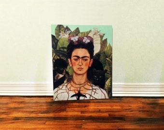 Frida kahlo self portrait Birch Canvas painting