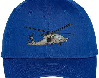 Black HAWK HELICOPTER Embroidered Snapback Adjustable Baseball Cap - 4 Colors! (LOG221-OTC-27-079)