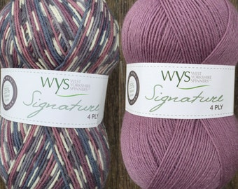 WYS Signature 4 Ply, Wood Pigeon & Pennyroyal