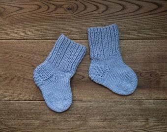 Knitted Baby Socks Blue