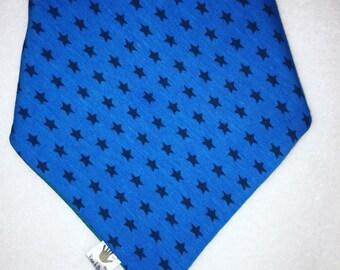 Bandana dribble bib - blue/dark blue stars