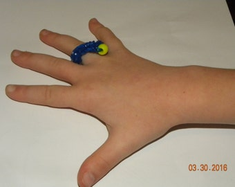 Rubber Band Ring with Bead
