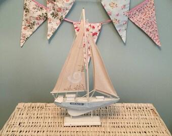 NAUTICAL WOODEN SAILBOAT Vintage Wooden Retro Sail Boat Bathroom Decor Ornament Figurine Home Decor Vintage Wooden Boat