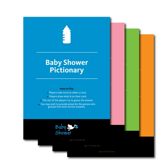 printable pictionary baby shower game baby shower favors