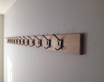 Cloakroom coat hooks, School, Vintage, label frame hooks.