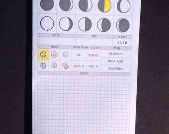 Moon Phase Tracker (DO1P) Traveler's Notebook Insert - Choose Your Size
