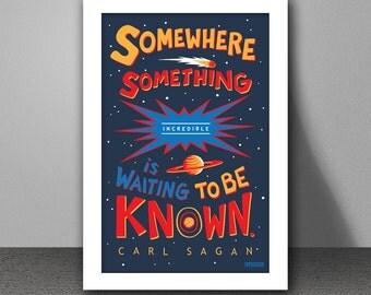 Carl Sagan Quote Typographic 11x17 PRINT