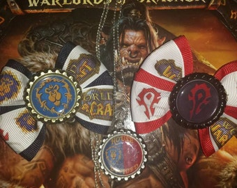 World Of Warcraft Small Bows,and Necklace