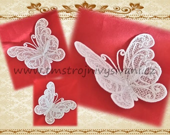 Lace Batterfly-original  lace design / 4x4 hoop /