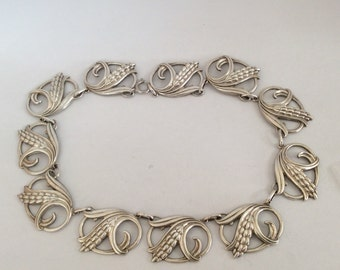 Art Deco necklace Danish sterling silver dancecraft # 834