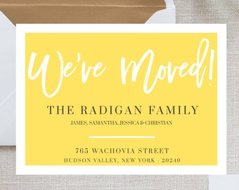 We Moved Card Template, Moving Announcement Card, We've Moved, New Home Change of Address Postcard, I'm moving card, Digital Download