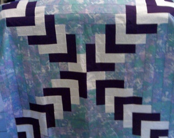 Paper Pattern, Herring Bone Cross Lap Quilt