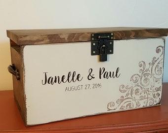 Wedding Card Keepsake Box - Personalized Wedding Card Box - Rustic Wedding - Wedding Card Holder - Wedding Card Box - Rustic Card Box