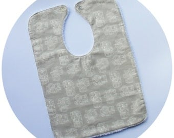 Baby Bib - 100% Camera, Cotton fabric, Photograhy, snap fastener
