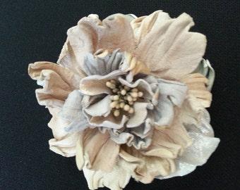 Stylish Designer Handmade Genuine Leather Flower Brooch/Hair Clip ''Fantasy''