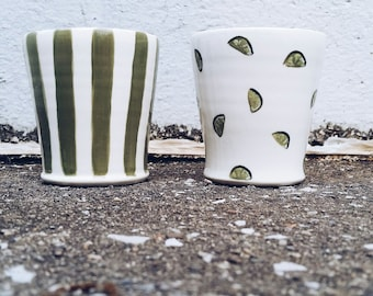 Set of Lime Cups