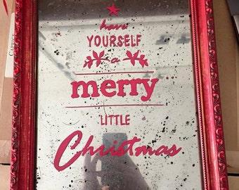 Vintage Christmas Mirror