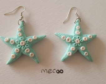 SeaStar mint earrings - size M